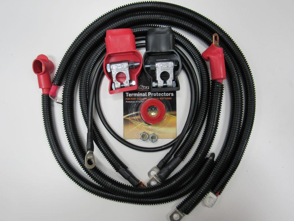 Zen 1 ga Cable Set - Big-3 Cable Kit for Jeep YJ 1986-1995 Wrangler 4.0L 4.2L I-6 6 cylinder #13635
