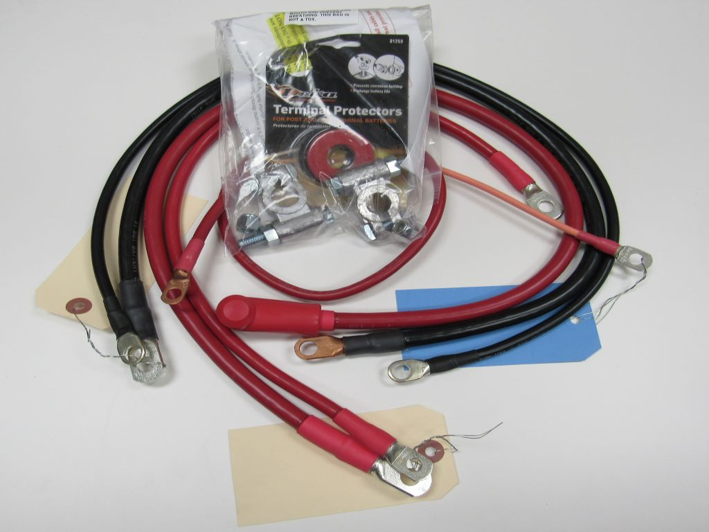 Jeep YJ - Military style cable kit for 1986-1995 Wrangler 4.0L 4.2L I-6 6 cylinder #13636