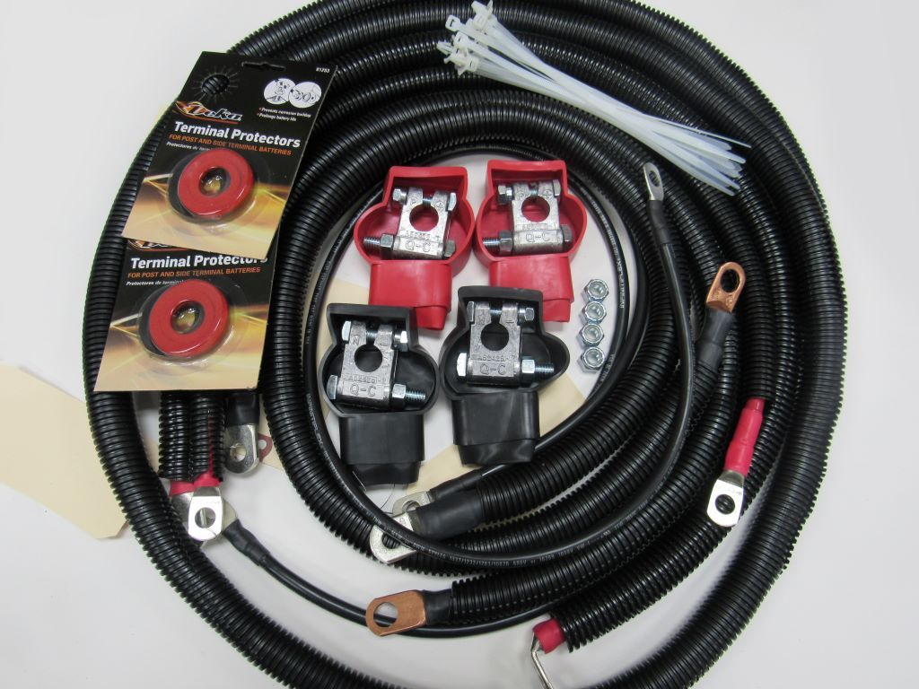 Dodge Battery Cable Kit for Gen 4 (2010 - 2018), 2/0 #14317