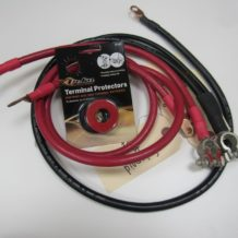 Ford - Bronco and F-150 small block, 3 cable, 2 ga cable set #18871