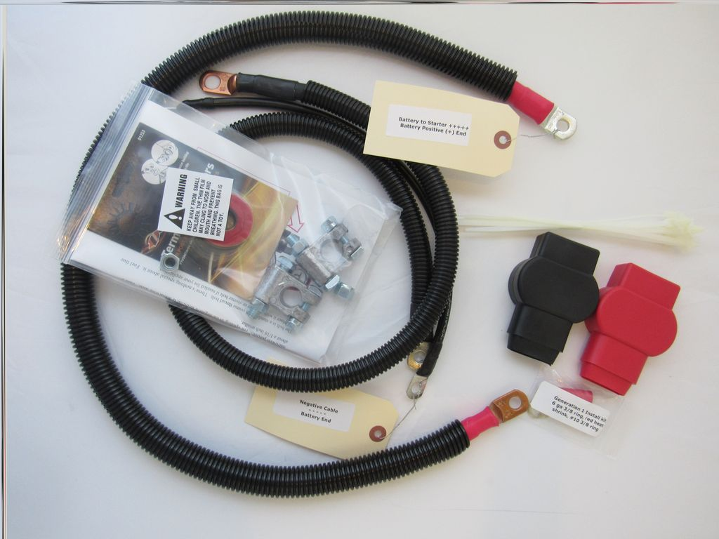 Dodge Battery Cable Kit for Gen 1 5.9L Single Battery 1989-1993 3/0 Hard Start #6557