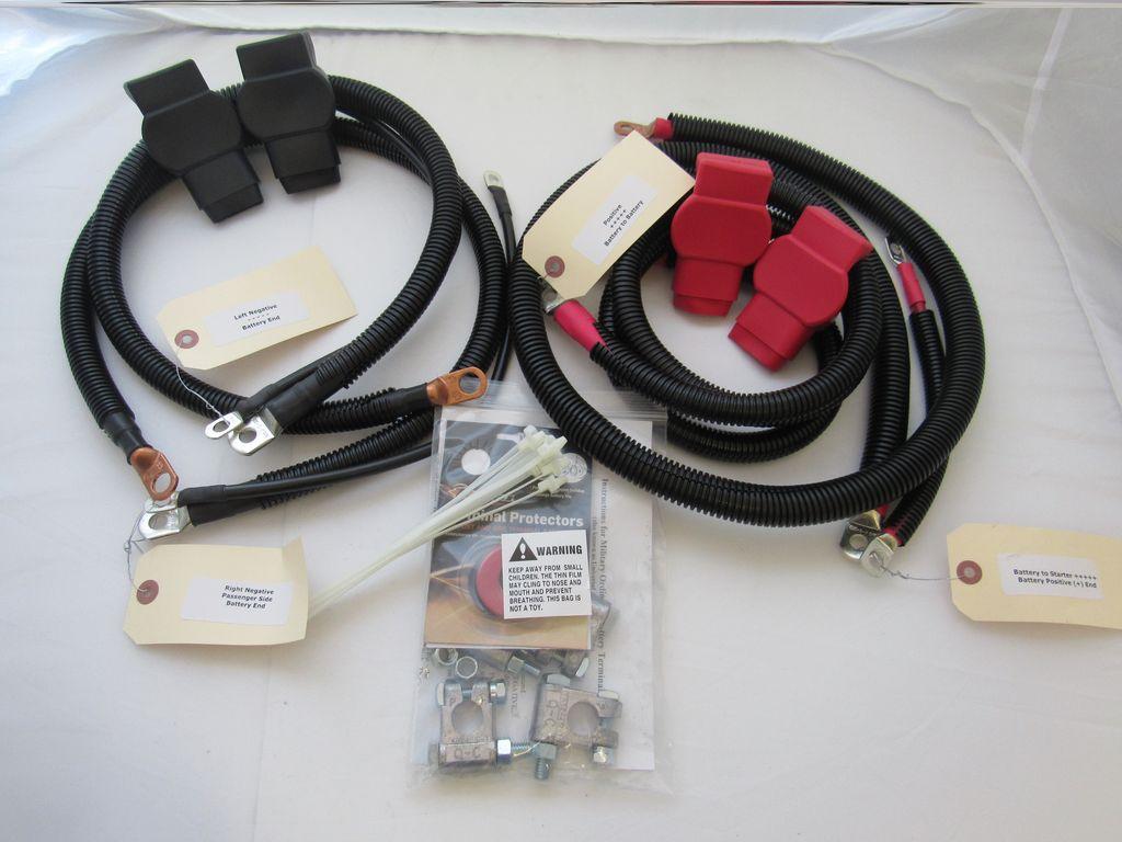 Dodge Battery Cable Kit for Gen 2 (1994 - 1998), 3/0 Hard Start #807