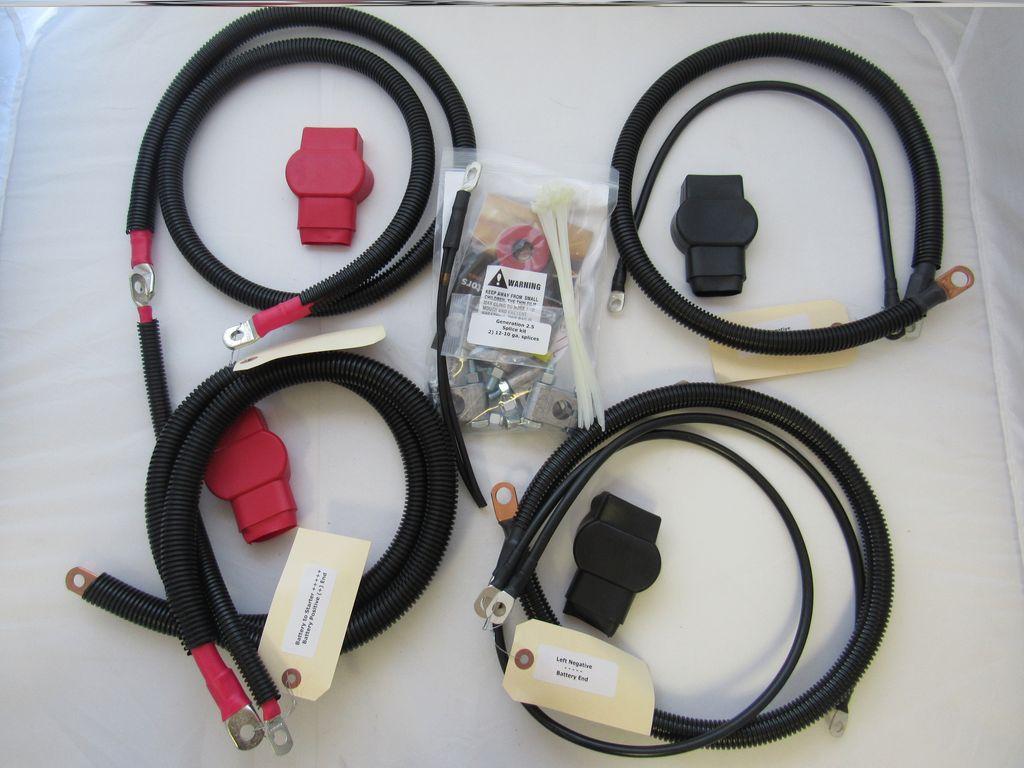 Dodge Battery Cable Kit for Gen 2.5 (1998.5 - 2002), 3/0 Hard Start #2555