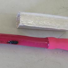 1 inch, Aluminum Fiberglass Heat Shield Tubing #23686