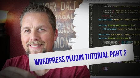 WordPress Plugin Tutorial Part 2